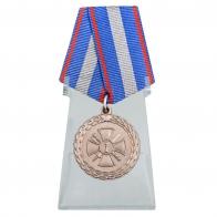 Медаль За укрепление уголовно-исполнительной системы 2 степени на подставке