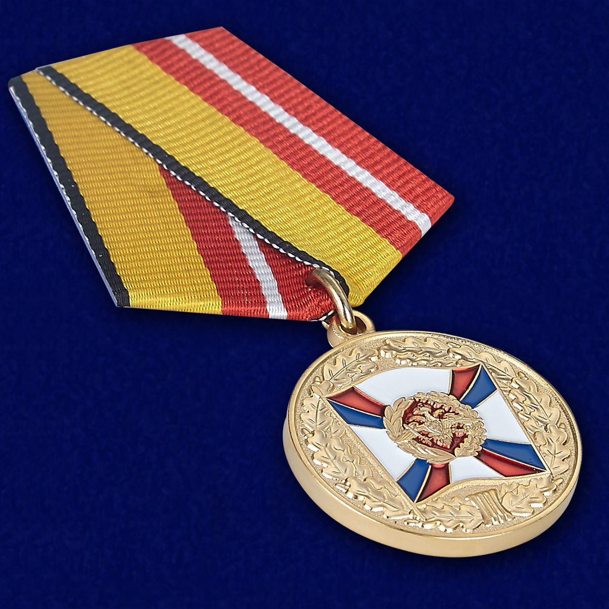 Медаль «За воинскую доблесть» 1 степени МО РФ - вид под углом