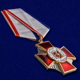 """Медаль """"За защиту Крыма"""" в футляре из темно-бордового флока - общий вид"""
