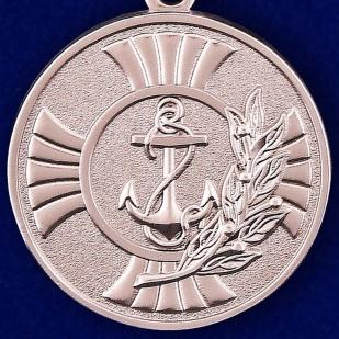"""Заказать медаль """"За заслуги"""" Морская пехота в футляре из флока с прозрачной крышкой"""