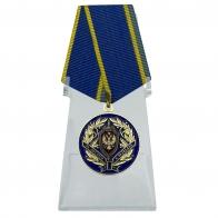 Медаль За заслуги в разведке ФСБ на подставке