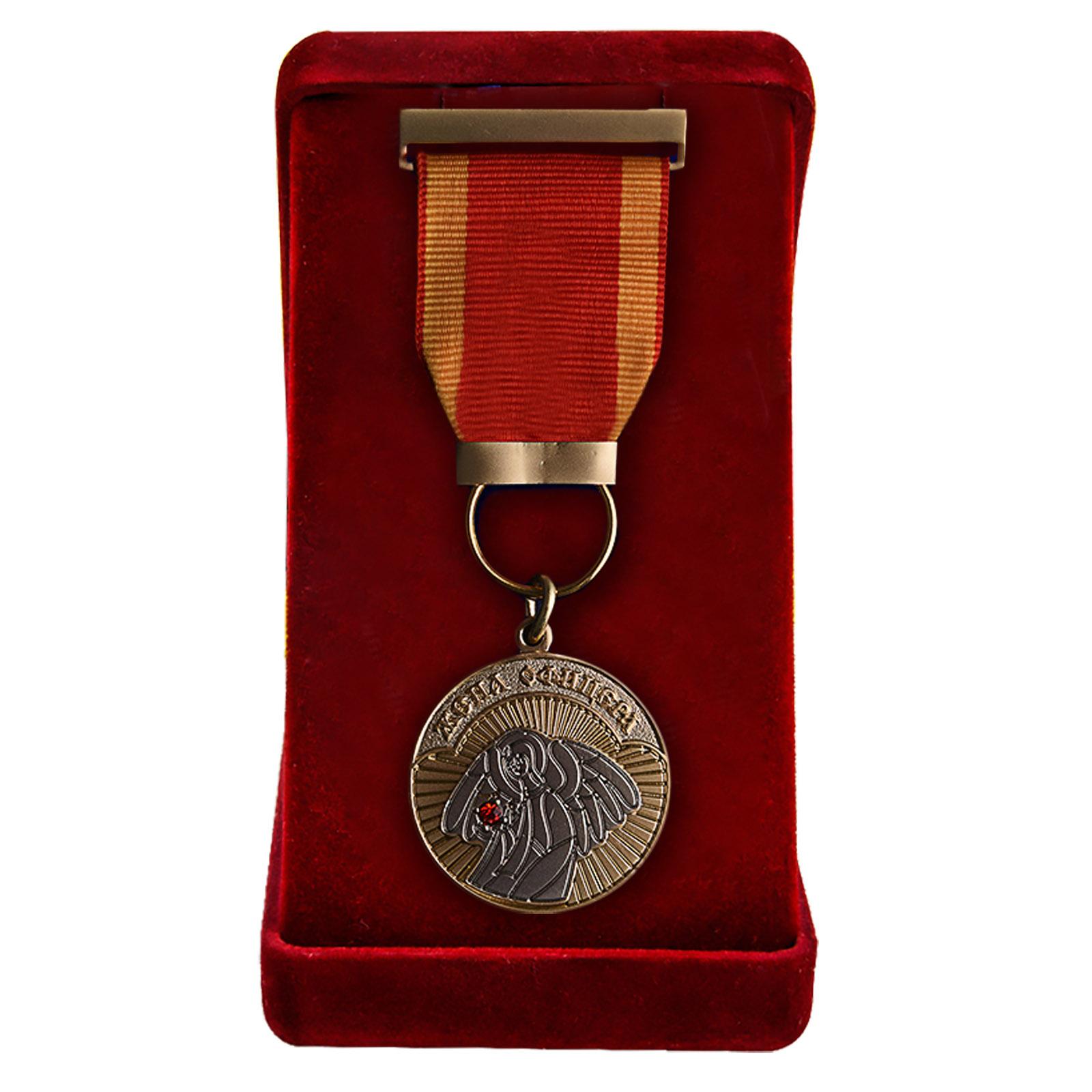 Медаль Жена офицера в бархатистом футляре
