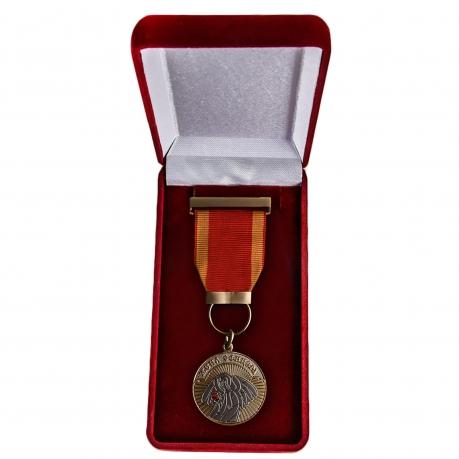 Медаль Жена офицера в бархатистом футляре - в футляре