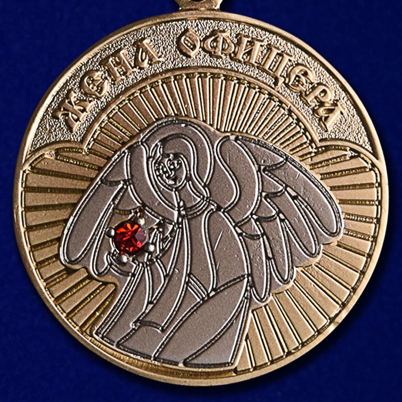 """Медаль """"Жена офицера"""" в футляре из флока с прозрачной крышкой - купить с доставкой"""