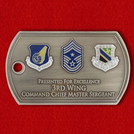 "Challenge Coin ""3rd air wings from the master sergeant"""