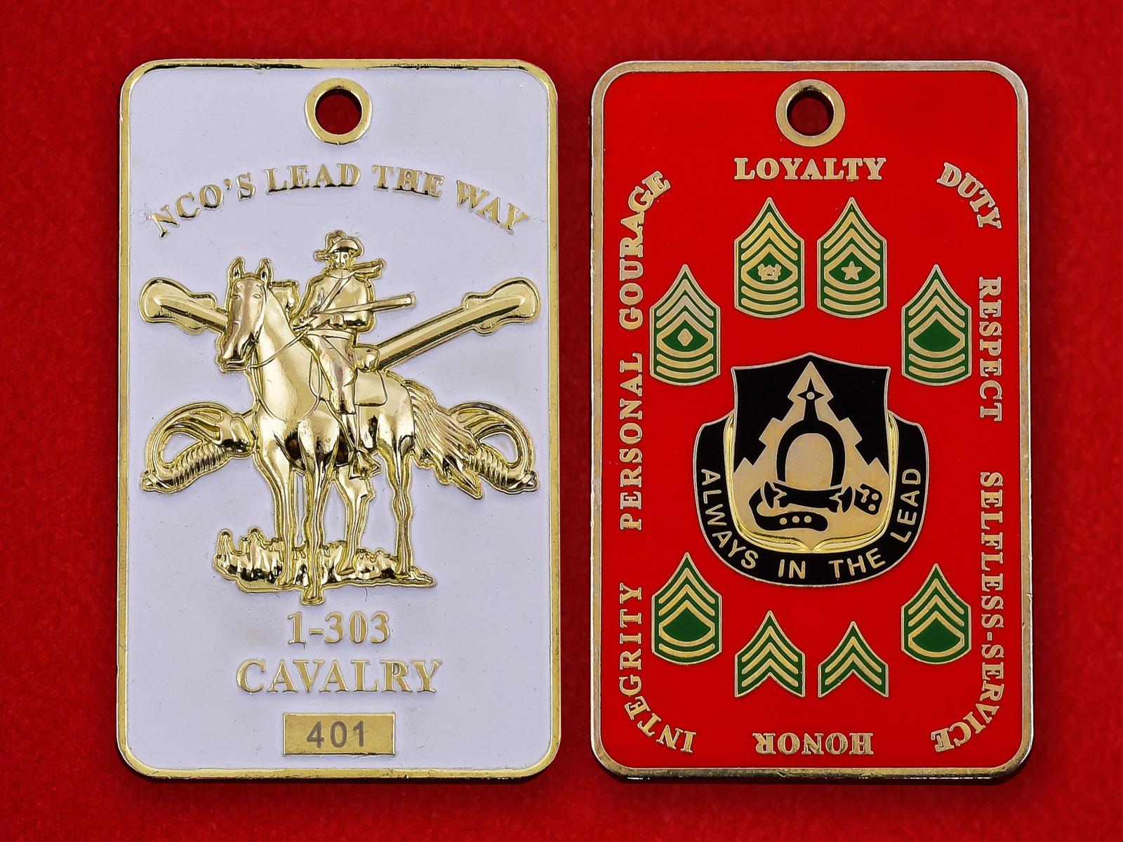 Медальон 1-го эскадрона 303-го Кавалерийского полка Национальной гвардии США