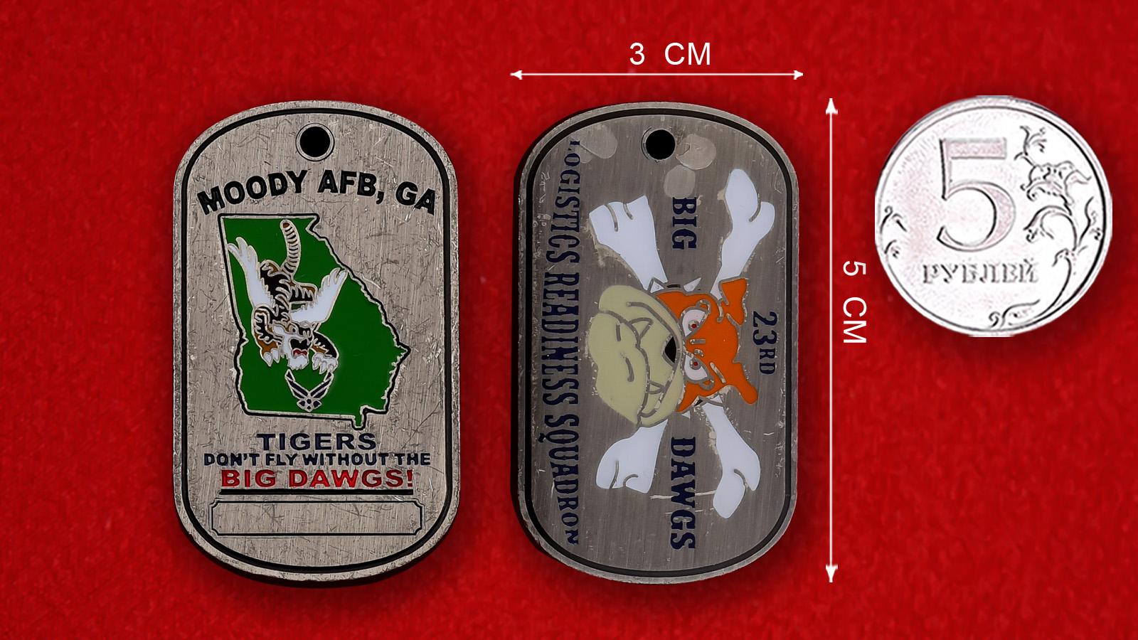 """Медальон """"23-я Истребительная группа ВВС США, авиабаза Муди"""""""