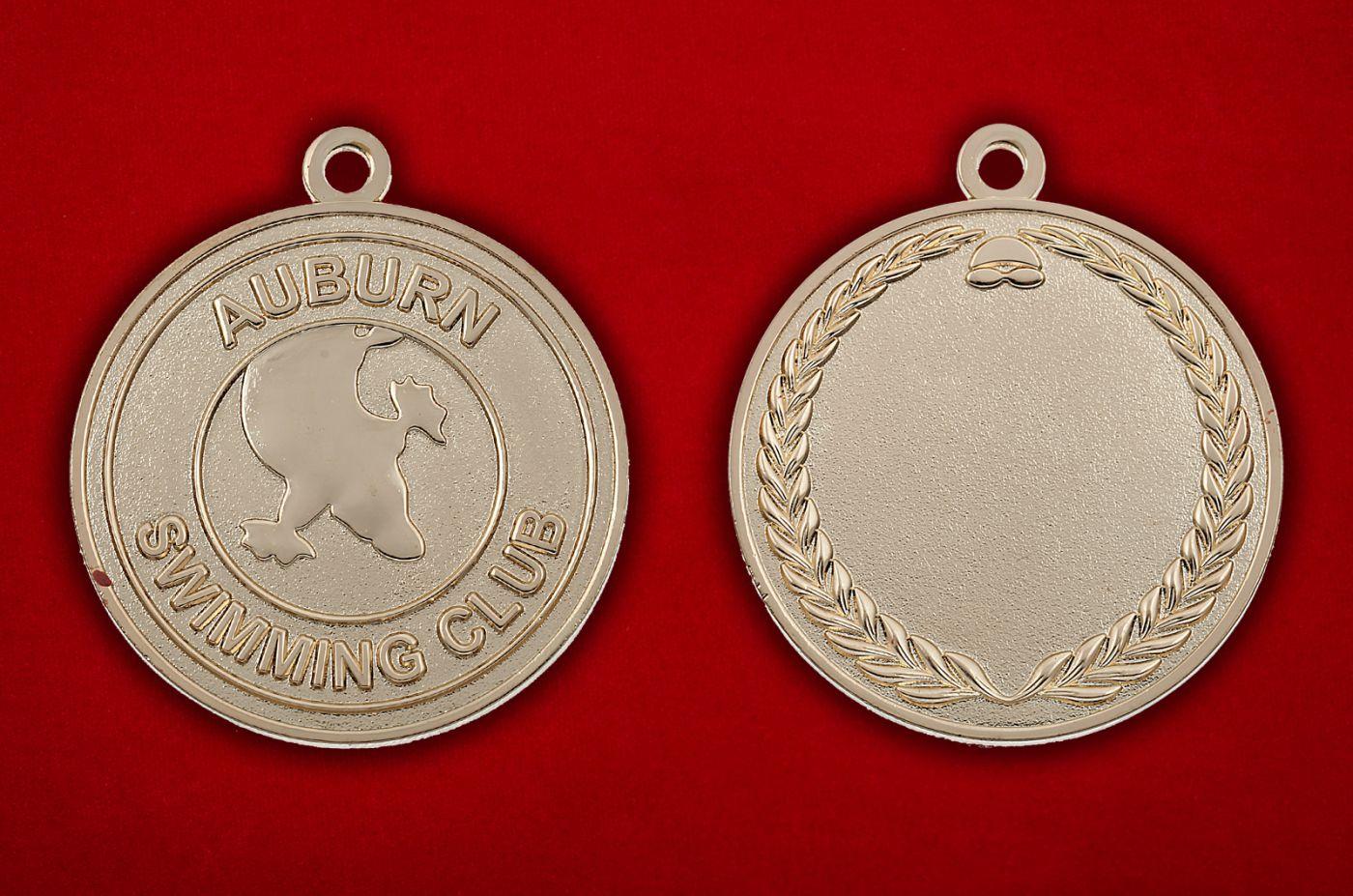 Медальон члена клуба пловцов Эйбурна, Австралия - аверс и реверс