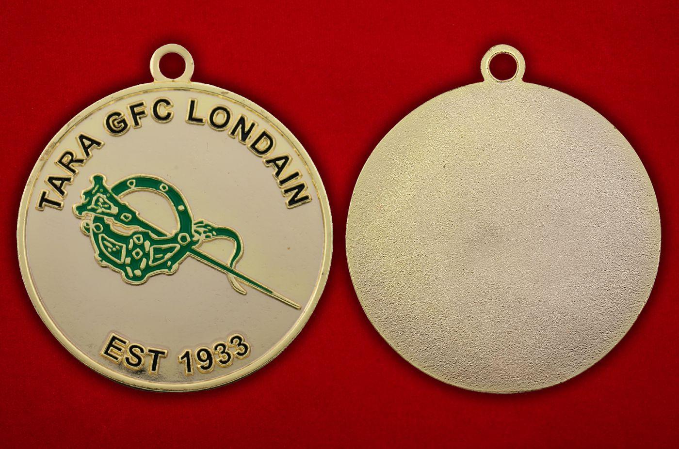 Медальон Гэльского футбольного клуба Лондона - аверс и реверс