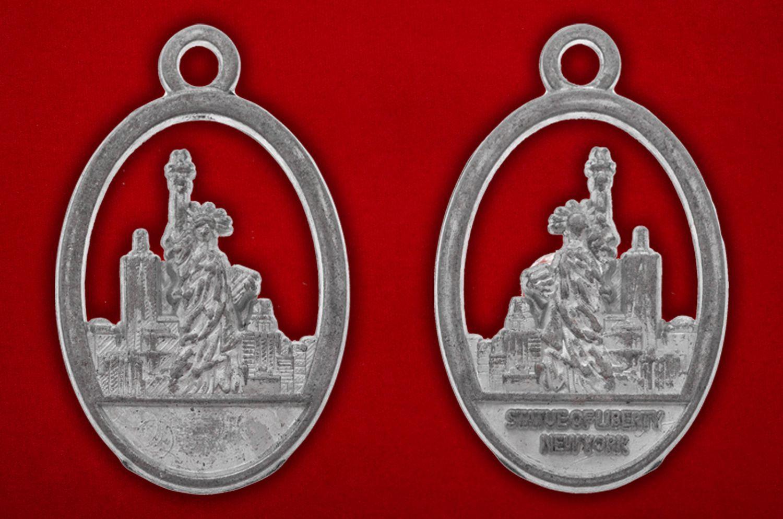 """Медальон """"Статуя Свободы"""" - аверс и реверс"""
