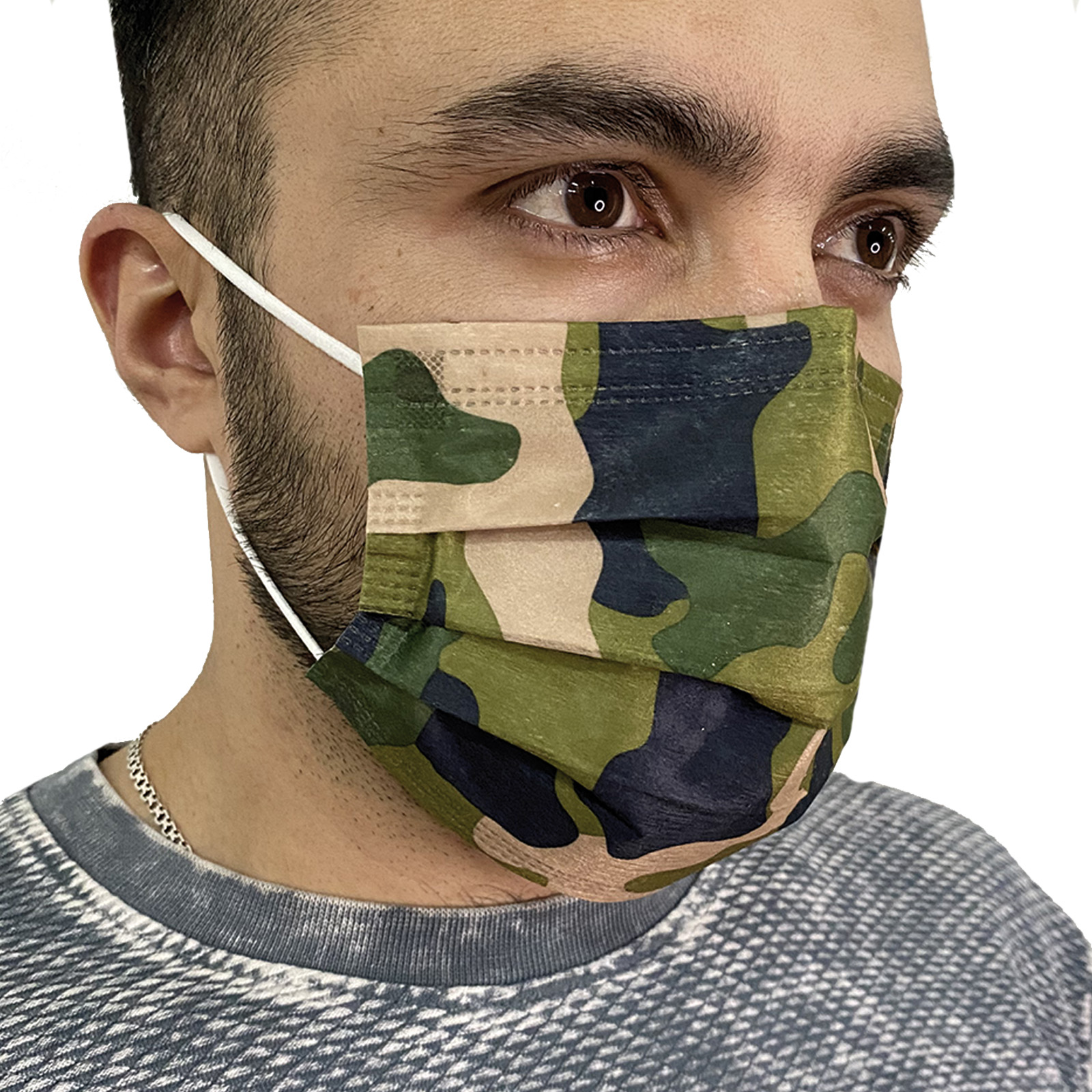 Креативные медицинские маски цвета хаки