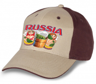 """Мега-популярная кепка """"Russia"""" в ультрамодном дизайне."""