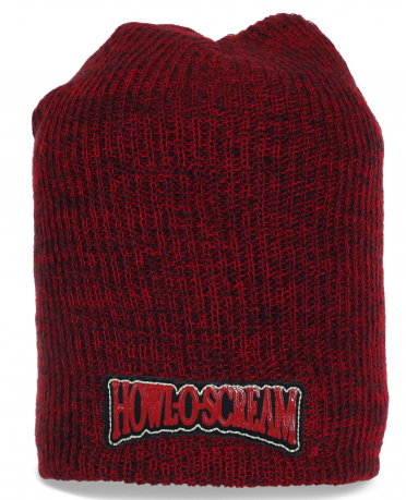Меланжевая удлиненная мужская шапка Howl-O-Scream. Отличное решение для тех, кто не любит переплачивать!