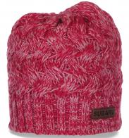 Меланжевая высококачественная женская шапка от бренда Subaru стильная уютная супермодная модель