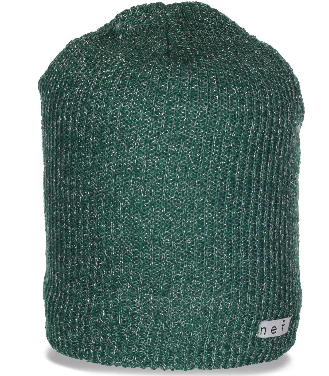 Меланжевая женская шапка бини люксового бренда Neff и модно и комфортно и уютно