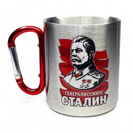 Металлическая кружка с карабином Сталин