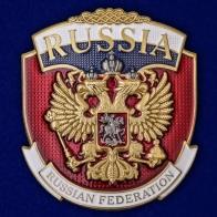 "Металлическая накладка ""Russia"""