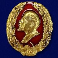 Металлическая накладка с профилем Ленина