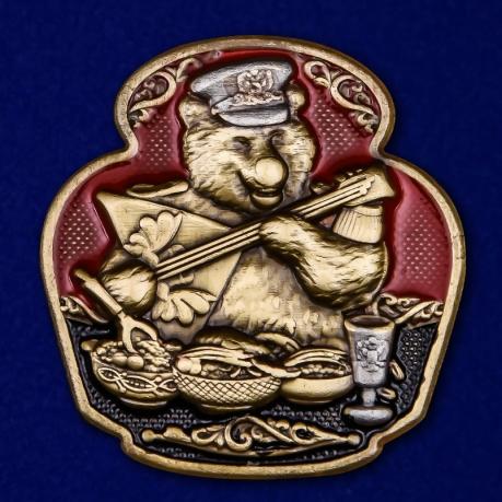 Цветная металлическая накладка с русским медведем