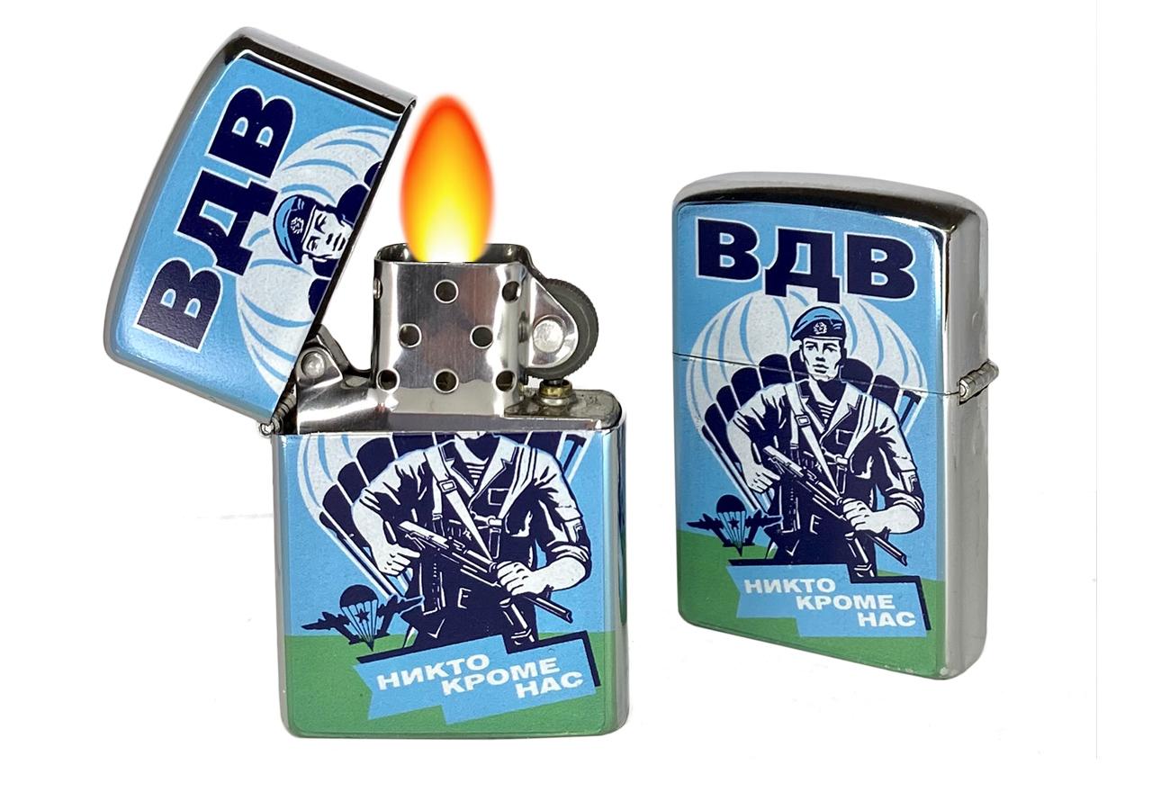 Купить металлическую зажигалку десантника в подарок мужчине