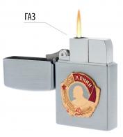 Металлическая зажигалка с орденом Ленина