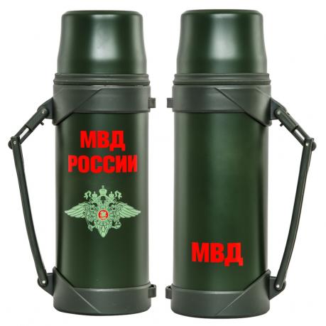 Металлический термос МВД