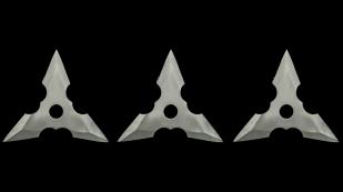 Нержавеющие метательные сюрикены трехлучевые