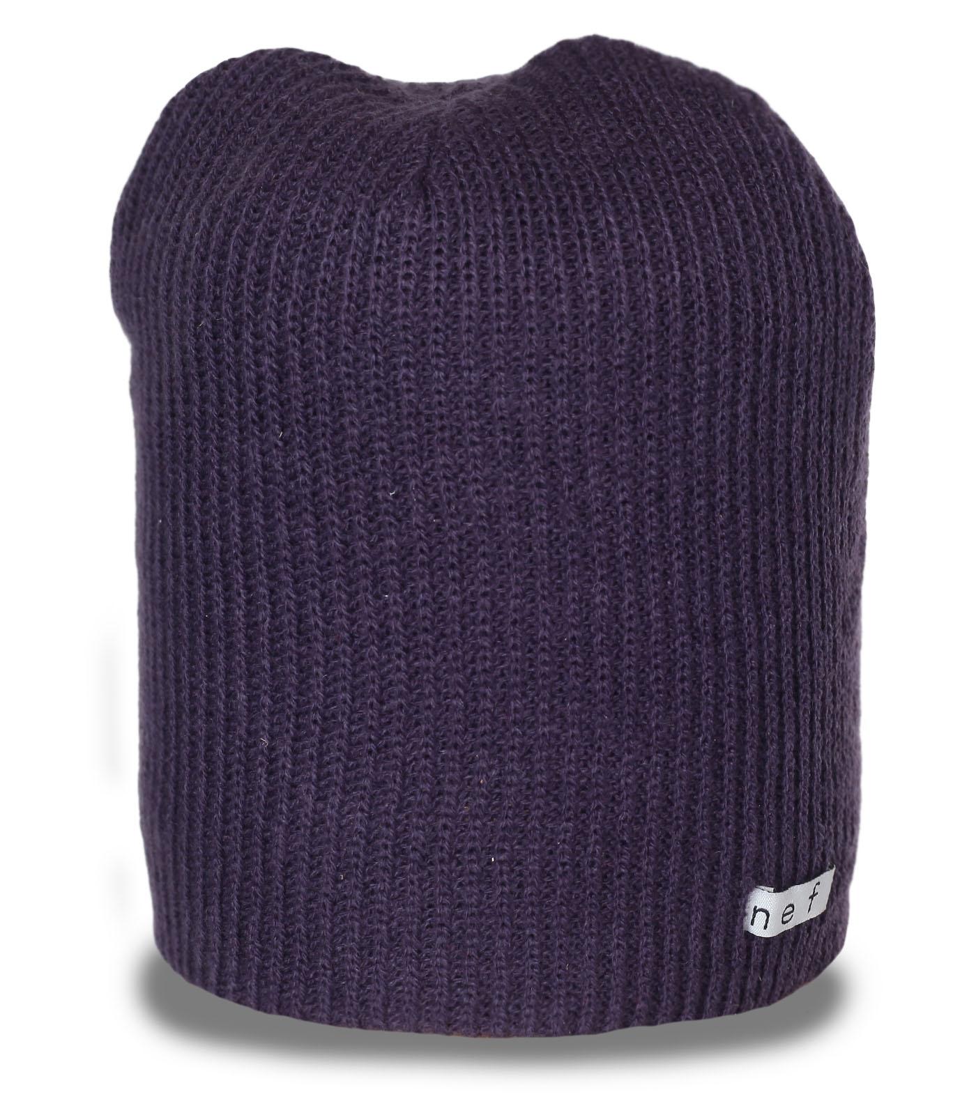 Межсезонная мужская повседневная шапка бини бренда Neff комфортная недорогая уютная модель