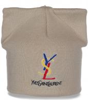 Милая незаурядная шапка с ушками Yves Saint Laurent в гардероб очаровательным девушкам