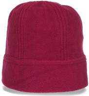 Милая теплая флисовая женская шапка идеальный повседневный вариант для межсезонья