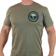 Мужская милитари футболка с символикой 14 ОБрСпН
