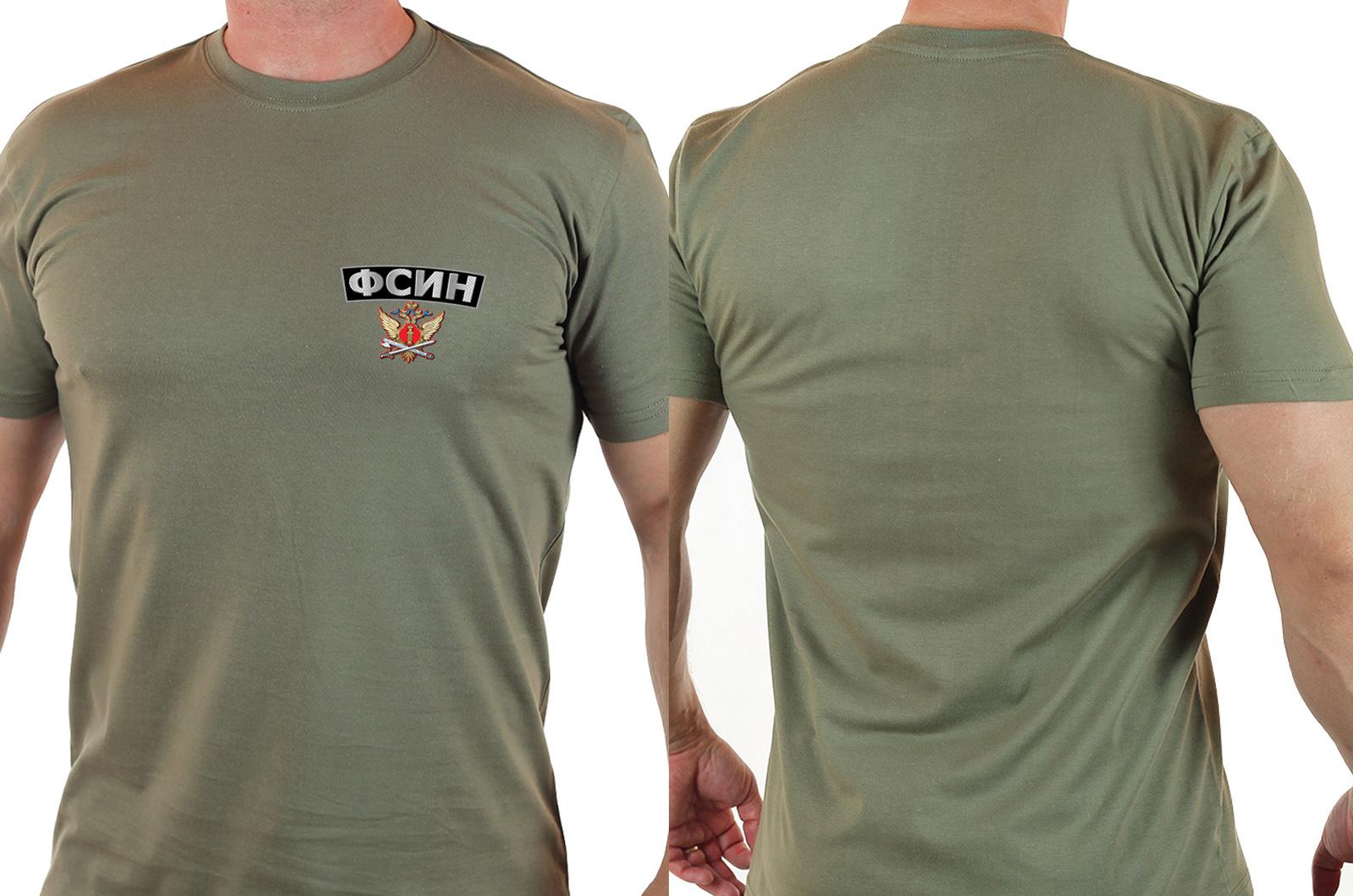 Мужская милитари футболка ФСИН, короткий рукав.