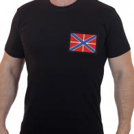 Мужская милитари футболка с вышитым Гюйсом ВМФ РФ
