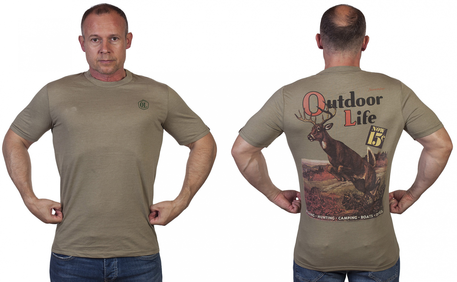 Мужская милитари футболка Outdoor life.