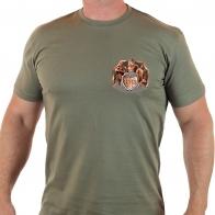 Мужская милитари футболка ПОГРАНВОЙСКА.