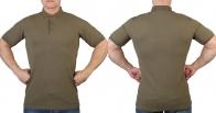 Милитари футболка поло хаки-олива