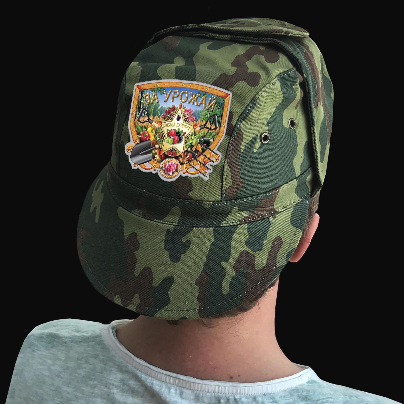 Купить милитари кепку с термотрансфером дачнику выгодно оптом