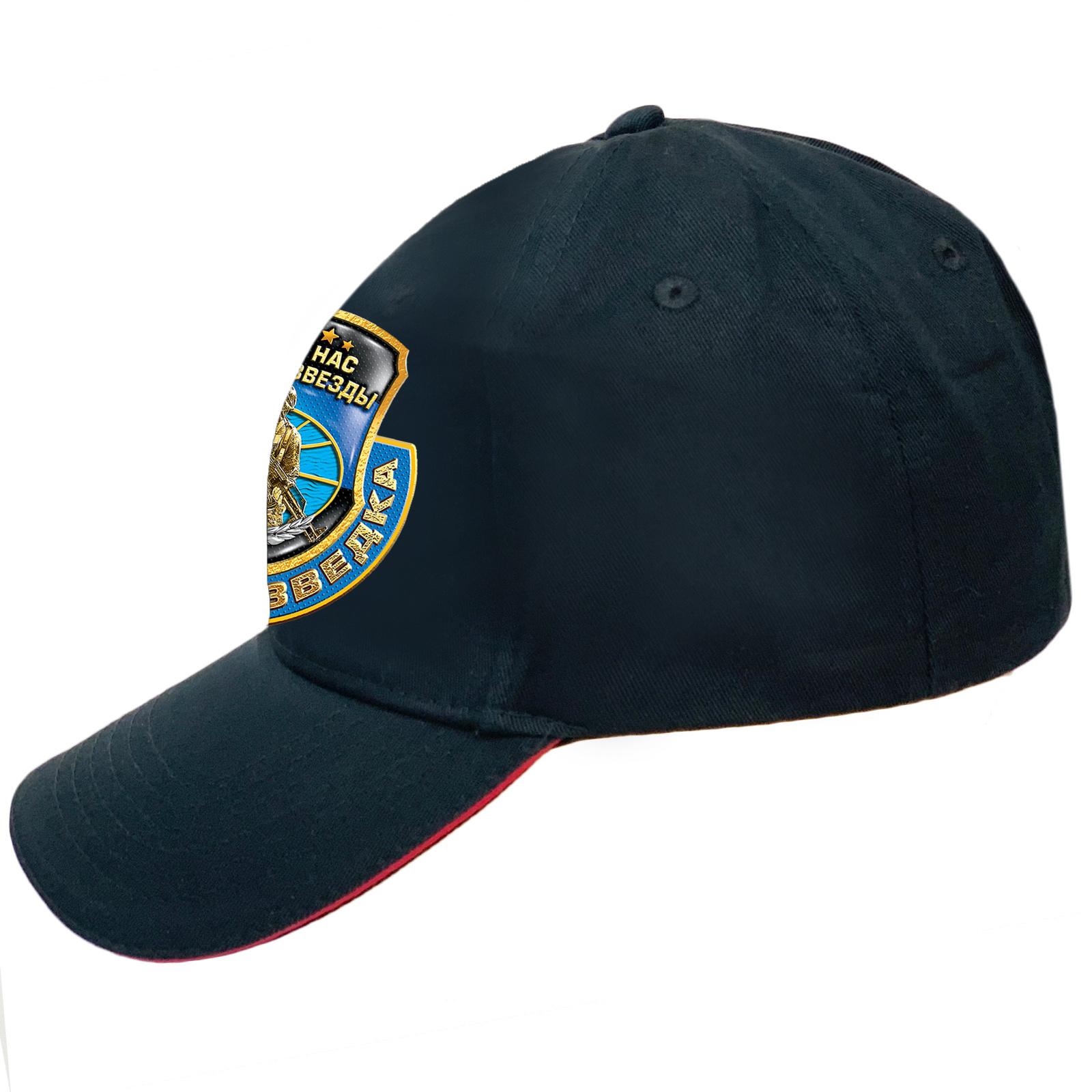 Мужская черная кепка с принтом Военной разведки