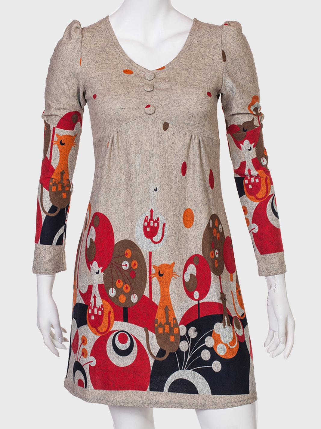 Купить милое платье с необычным принтом