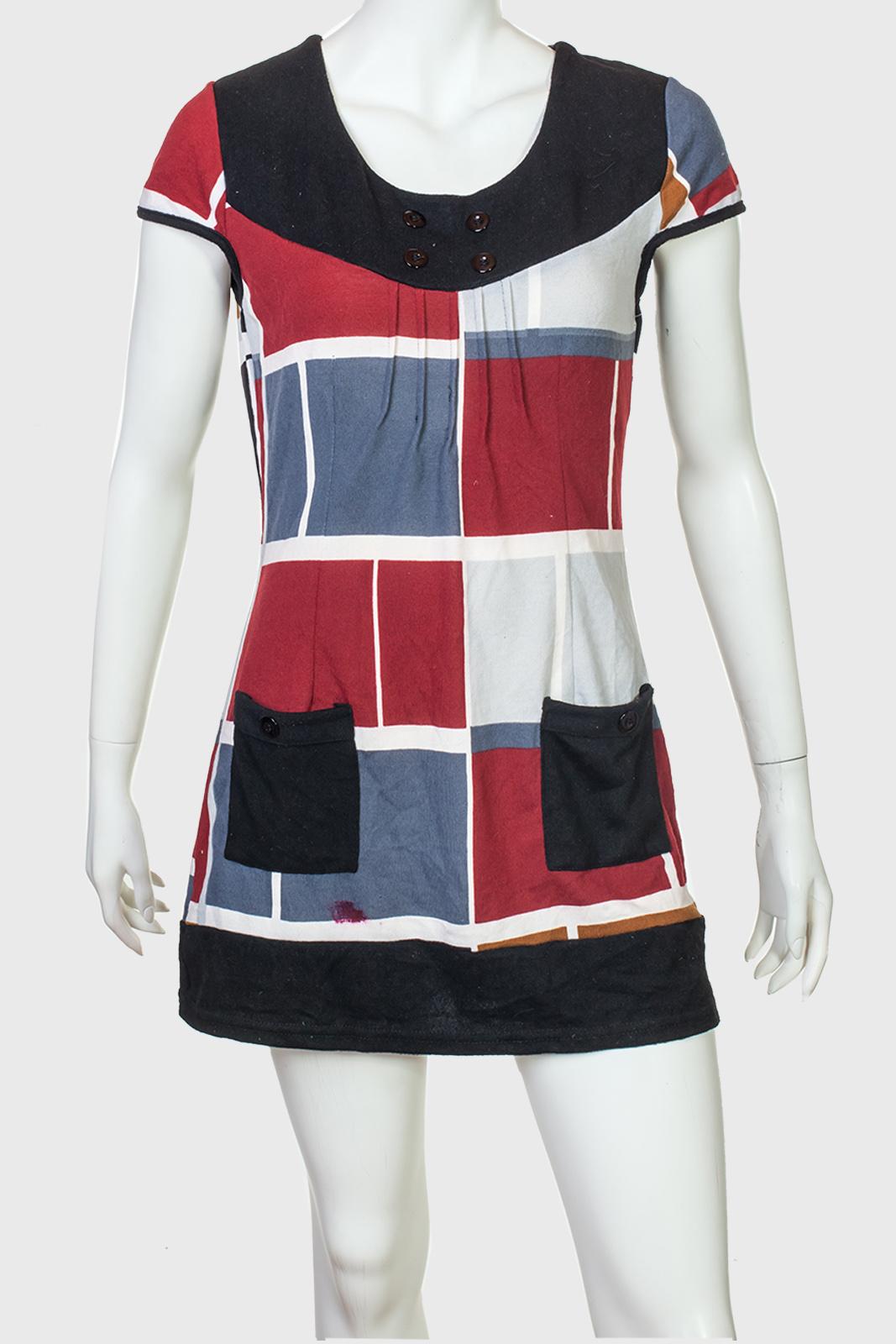 Милое платье туника с короткими рукавами от Le Grahier