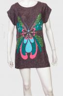 Миловидное коричневое платье с шикарным принтом от Natyra