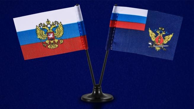 Мини двойной флажок России и ФСИН