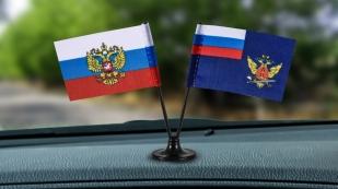 Заказать мини двойной флажок России и ФСИН