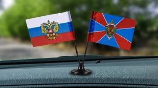 Заказать миниатюрный двойной флажок России и ФСБ