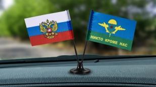 Заказать миниатюрный двойной флажок России и ВДВ с девизом
