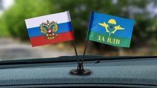 Заказать миниатюрный двойной флажок России и ВДВ СССР