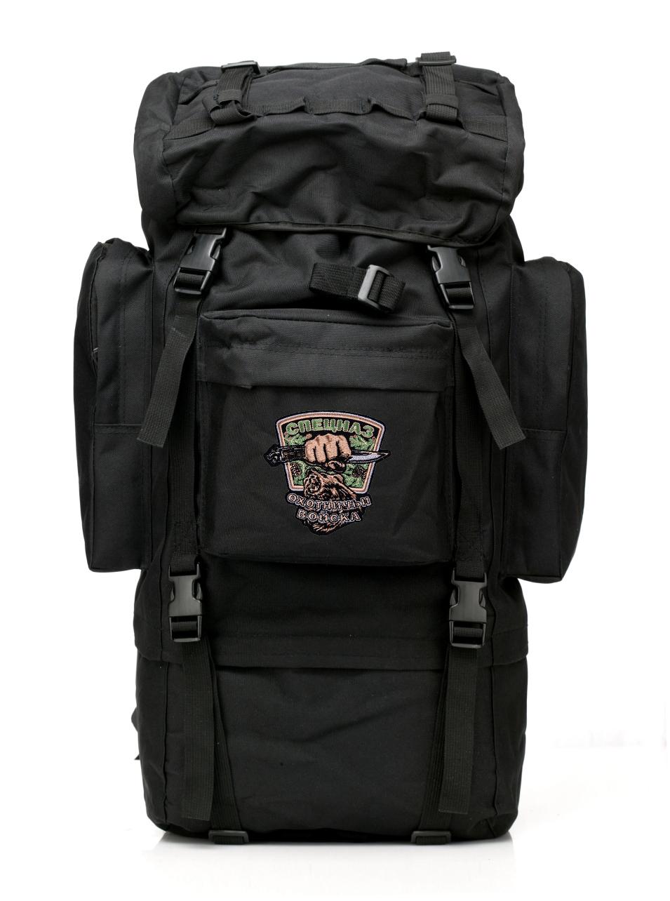 Многодневный черный рюкзак с эмблемой Охотничьих войск