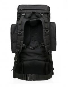 Многодневный черный рюкзак с эмблемой Охотничьих войск купить оптом