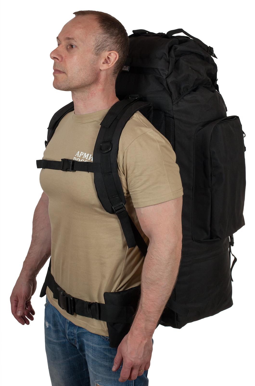 Многодневный черный рюкзак с эмблемой Охотничьих войск купить с доставкой