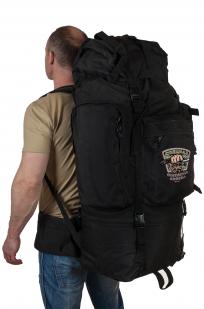 Многодневный черный рюкзак с эмблемой Охотничьих войск купить в подарок